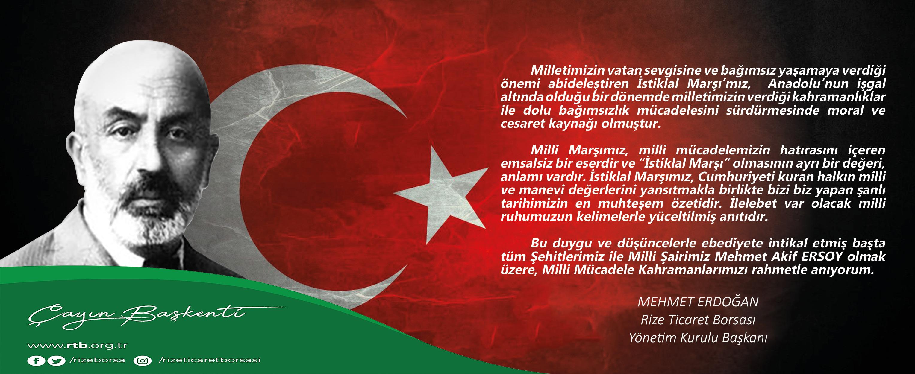 İstiklal Marşı Kabulünün 99. Yıl Dönümü