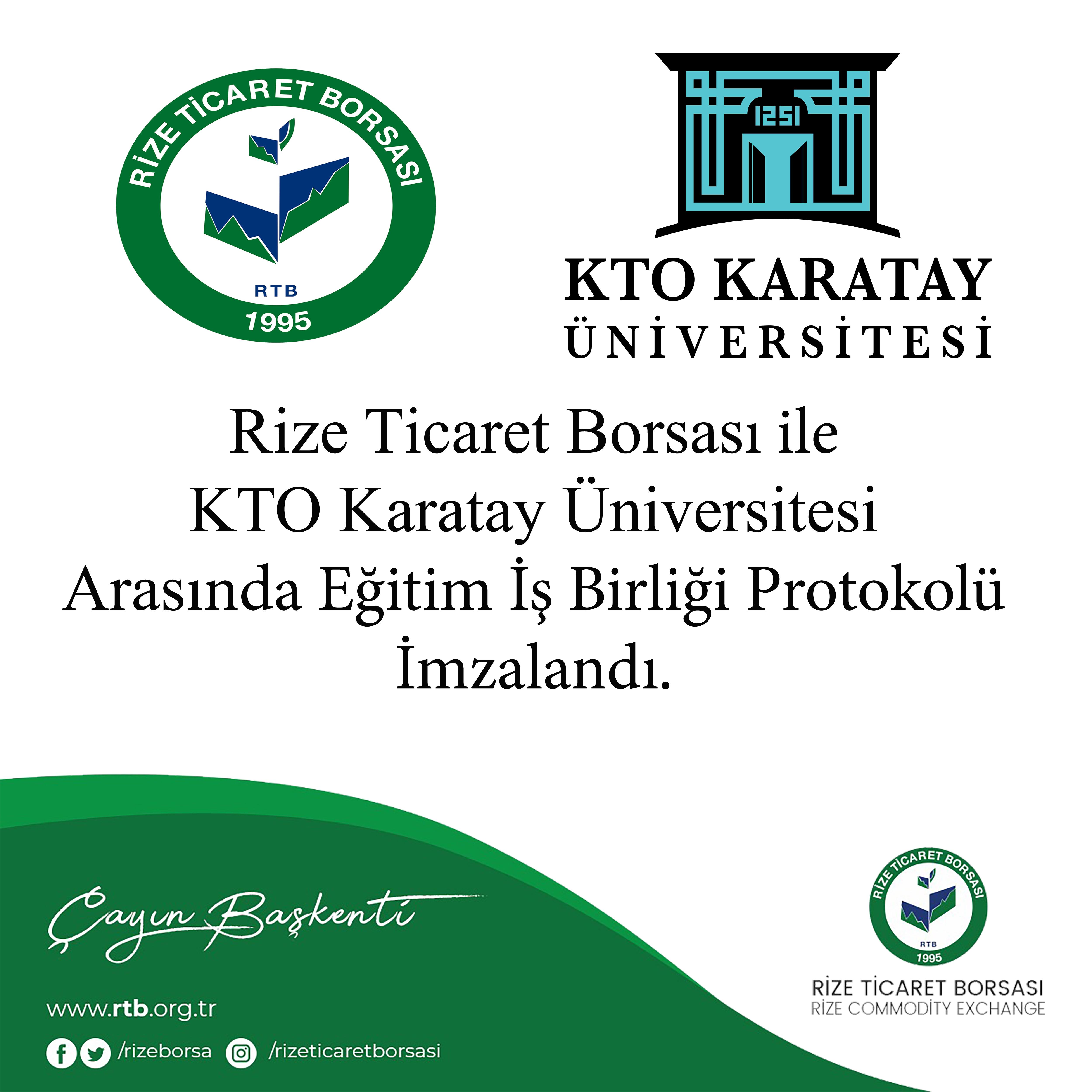 Karatay Üniversitesi'yle RTB Arasında Eğitim İş Birliği Protokolü