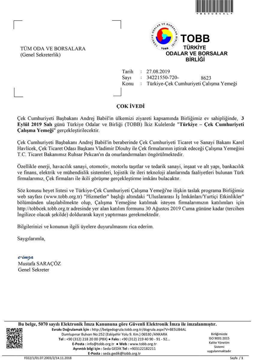 Turkiye Cek Cumhuriyeti Calisma Yemegi Rtb Org Tr